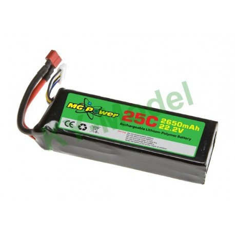 MG-222-25-2650 - MG Power Battery (22.2V 25C 2650mAh)