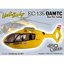 EC001 - EC-135 OAMTC Fixed Gear Glass Fiber Fuselage - 450 class