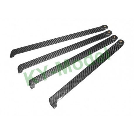BL-320-C-4B - EP 450 Class 320mm Carbon Fiber Main Blades for 4-Blade Main Rotor