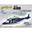 AG002 - Agusta A109 Police Glass Fiber Fuselage with Retractable Landing Gear - 450 Class