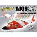 AG003 - Agusta A109 Coast Guard Glass Fiber Fuselage with Retractable Landing Gear - 450 Class