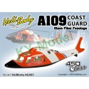 AG005 - A109 Coast Guard Fixed Gear Glass Fiber Fuselage - 450 Class