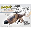 AH001 - Apache AH-64 Glass Fiber Fuselage with Air Operate Retractable Landing Gear - 600 Class (Desert Camouflage)