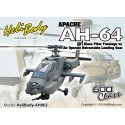 AH002 - Apache AH-64 Glass Fiber Fuselage with Air Operate Retractable Landing Gear - 600 Class (Army Green Camouflage)