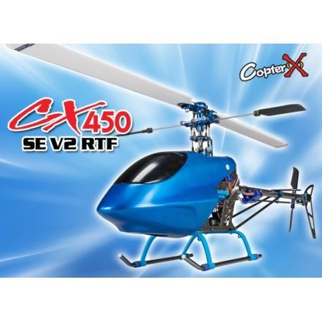 CX450SEV2-2.4G - CopterX CX450SE V2 2.4G RTF Metal Carbon