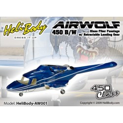 HB-AW001 - Airwolf 450 B/W Retrac Glass Fiber