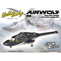 HB-AW002 - Airwolf 450 - Train rétractable - Fuselage fibre